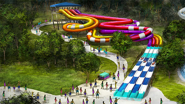 New water slide at Oceans of Fun, a waterpark in Kansas City