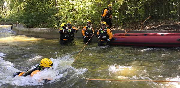 Kansas City first responders train for water rescue by using Fury of the Nile