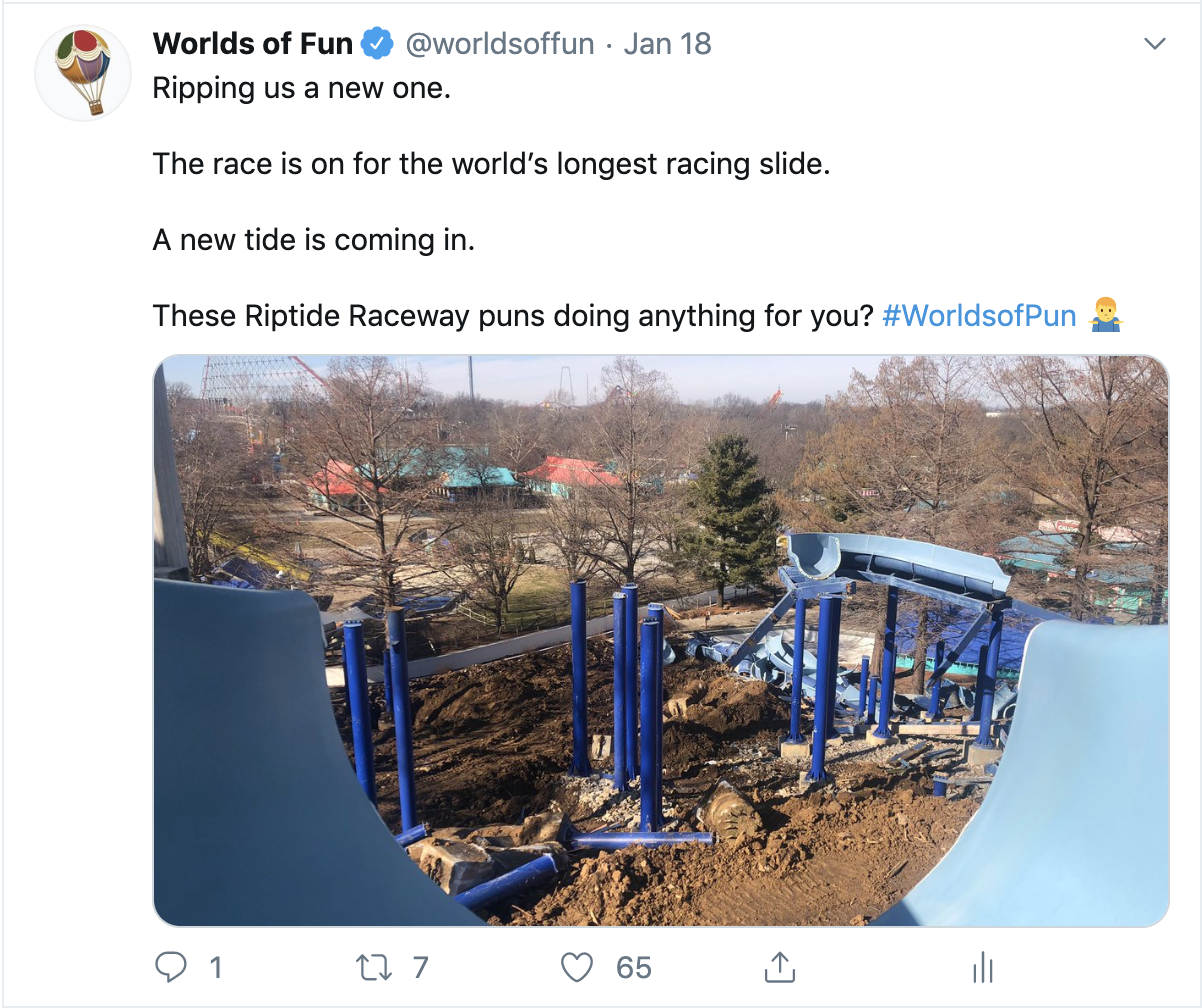 Worlds of Fun on Twitter shows demo of Diamond Head inside the waterpark in Kansas City