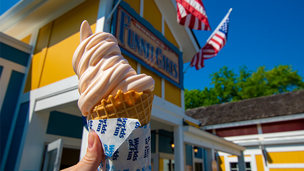 Worlds of Fun Ice Cream is one of the new amusement park food items this year