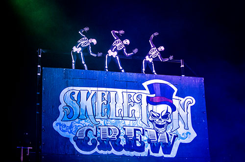 Skeleton Crew at Worlds of Fun's Halloween Event