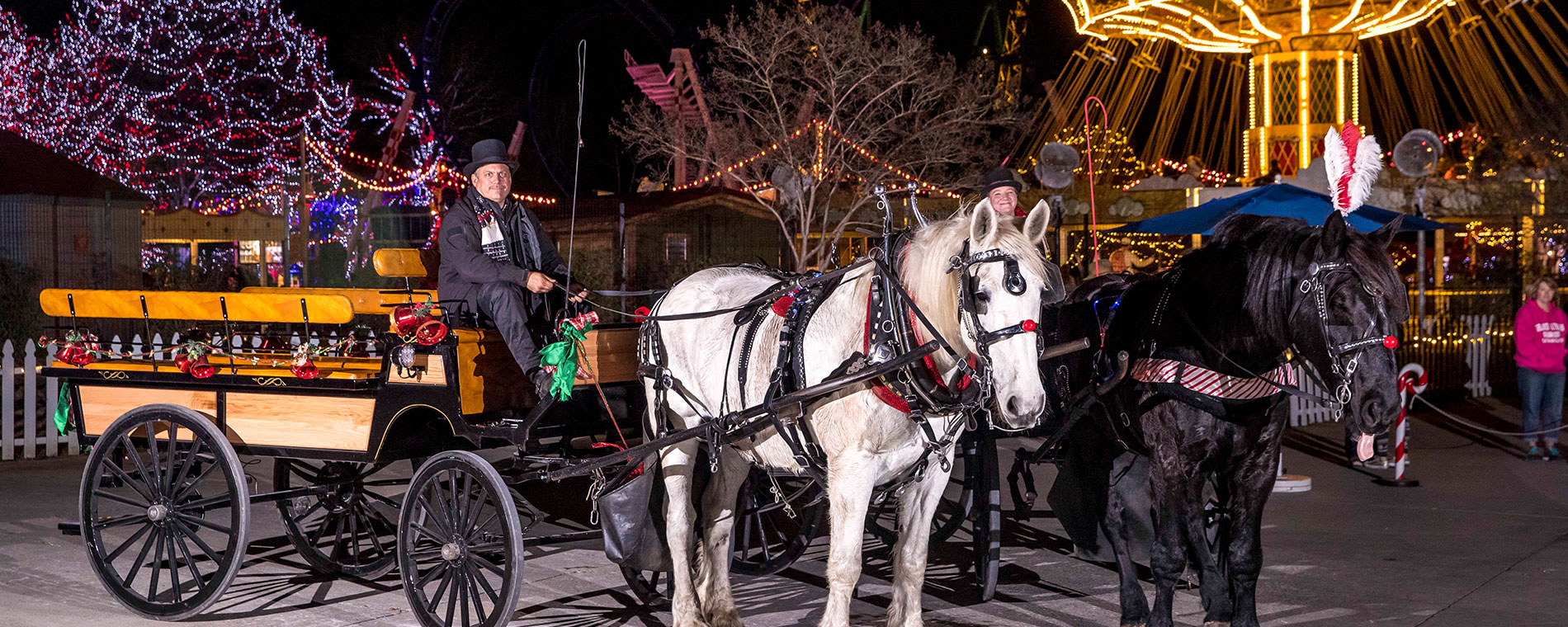Old West Carriage Company at Worlds of Fun's Holiday Event